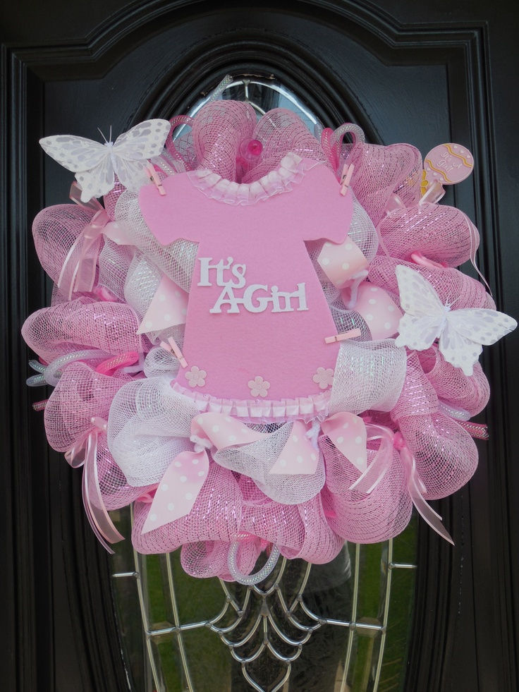 It's A Girl Deco Mesh Wreath                                                                                                                                                                                 More