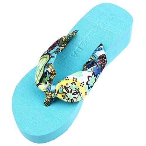 Oferta: 1.38€. Comprar Ofertas de Chanclas Mujer,Xinan Plataforma de la Cuña Sandalias de las Chancletas Zapatillas (CN 37, Azul) barato. ¡Mira las ofertas!