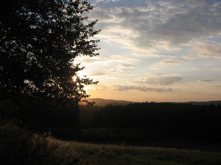 Červencový západ slunce