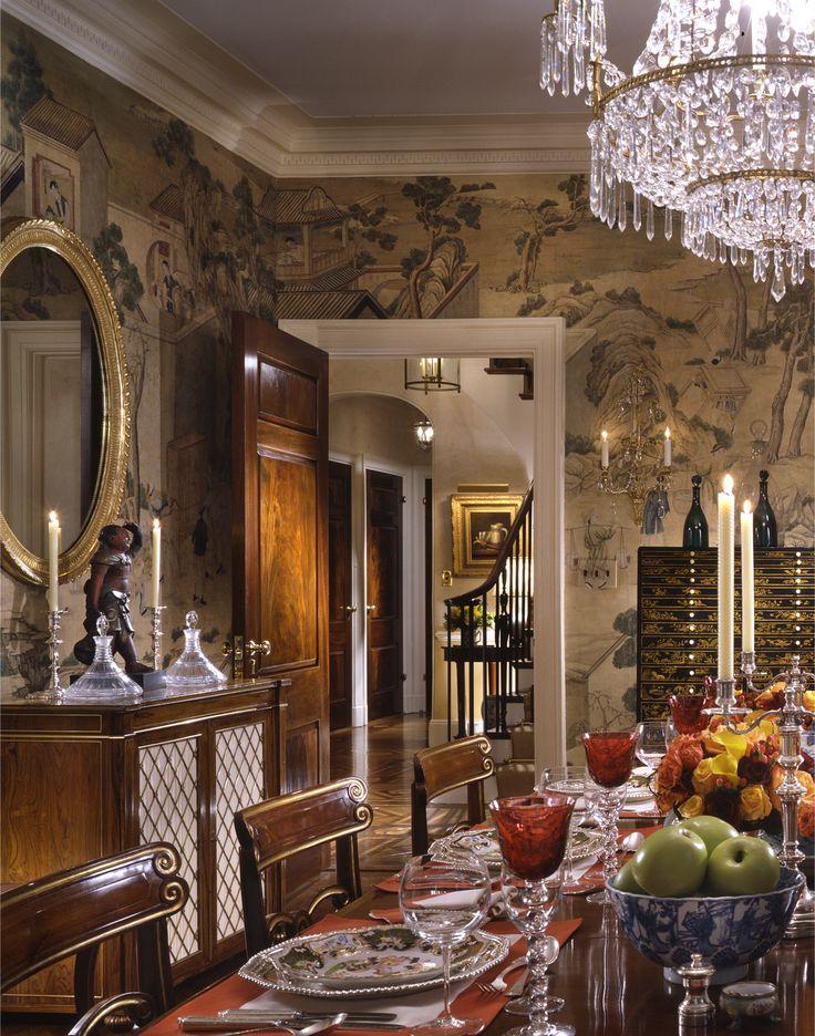 Stunning dining room by Cullman &; Kravis