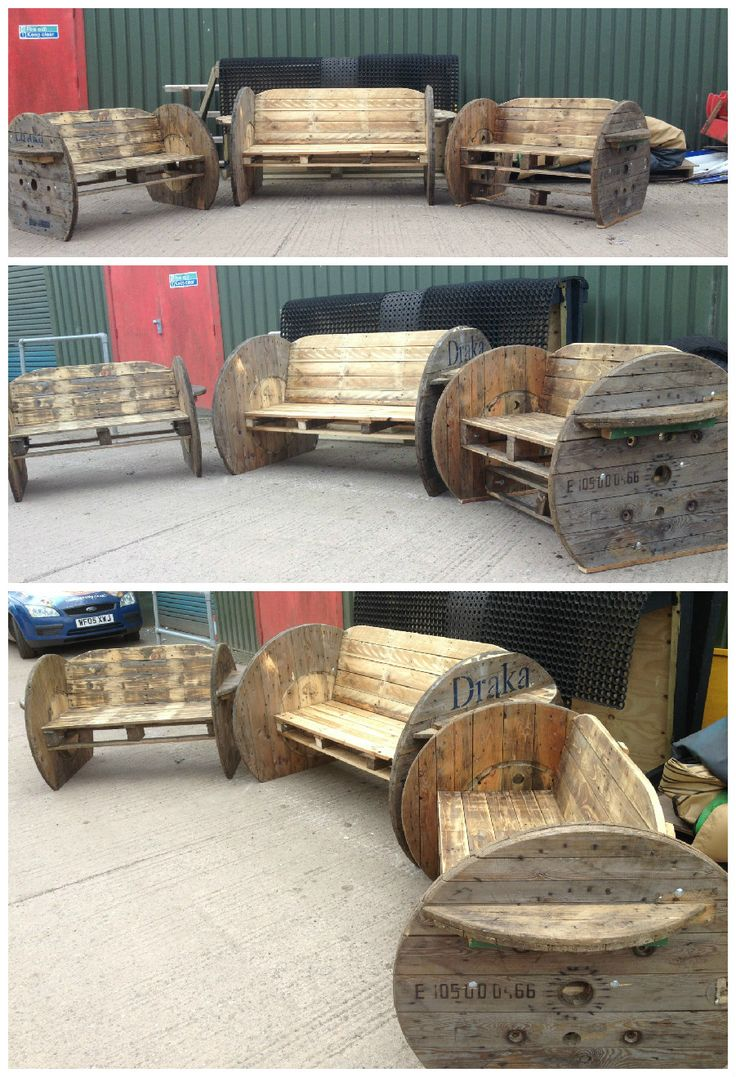 Pallet Amp Cable Drum Benches Diy Pallet Projects Wooden