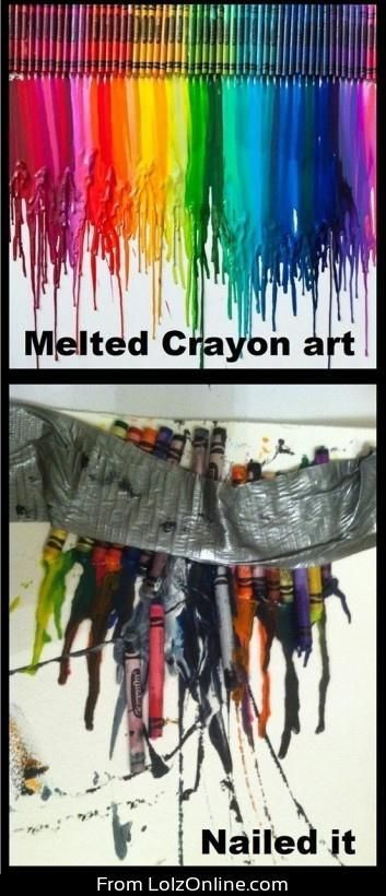 Crayon candle nailed it. Looks like a good Mother's Day gift. Always lots of leftover crayons at the end of the year.
