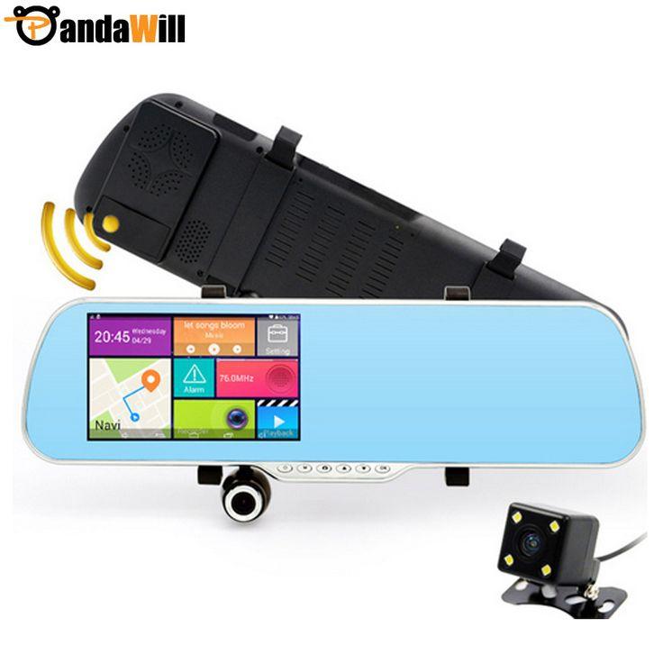 5 Pulgadas IPS de la cámara del Espejo de Navegación gps para Android de Doble Cámara Grabadora de Vídeo GPS Dash Cam Vehículo Cámara de Visión Trasera coche Dvr