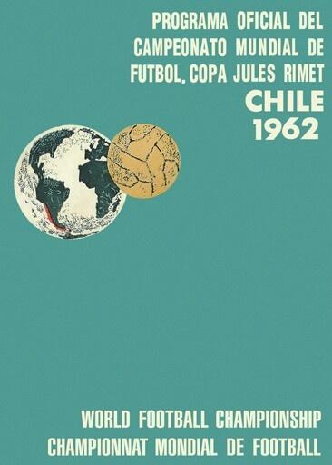 Programa oficial del campeonato mundial de futbol,  copa Jules Rimet Chile 1962 - Official program football world cup championship, Jules Rimet Cup Chile 1962