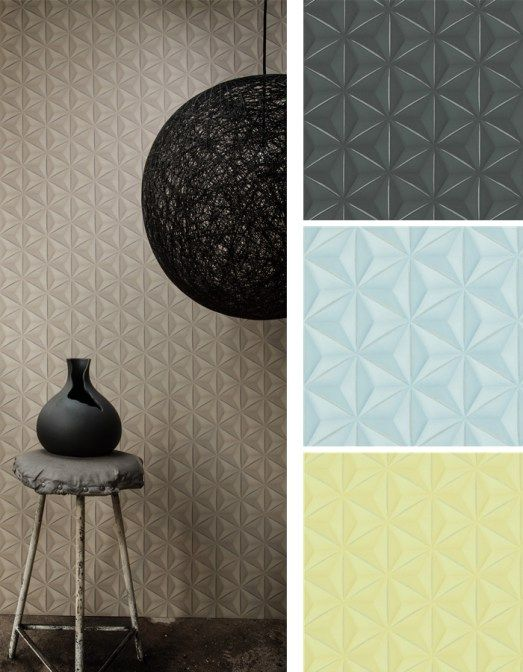 3-D geometric wallpapers are a new way to add dimension and depth. See more popular trends on our blog featuring the top designer wallpaper trends for 2016.