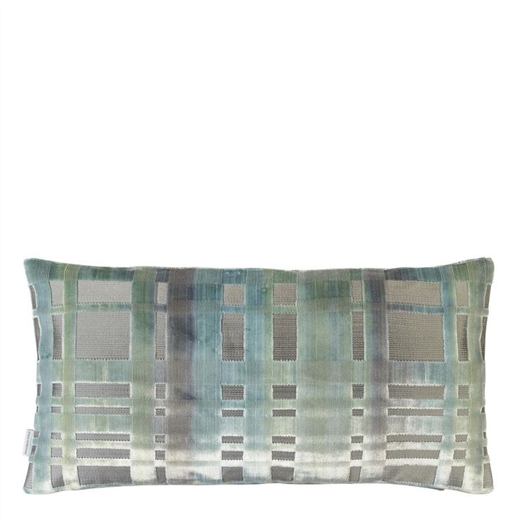 Colonnade Duck Egg Cushion | Designers Guild
