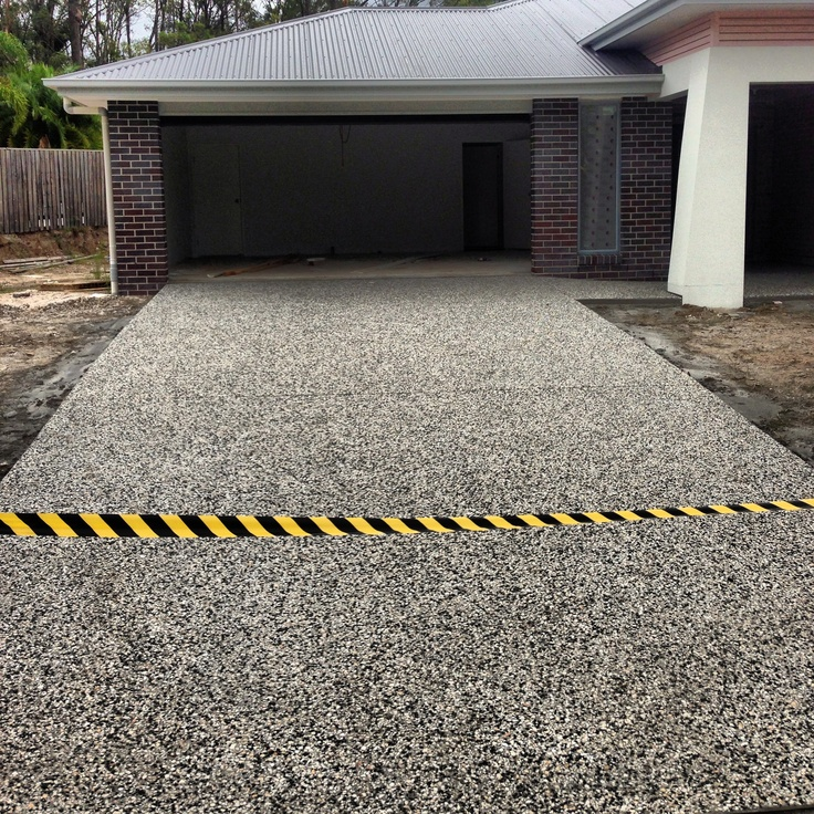 Exposed driveway