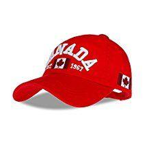 WENDYWU Unisex Cotton Baseball Cap Canada Maple Flag Embroidery