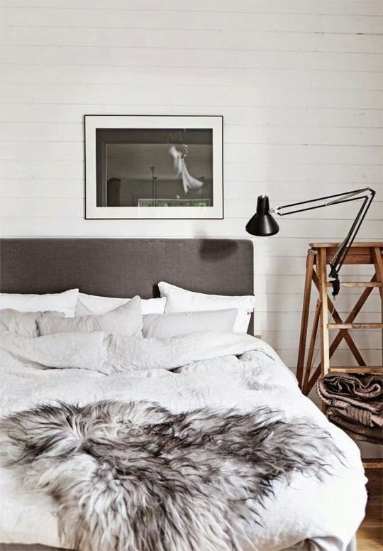 Colori naturali Toni di grigio e coperta di pelliccia