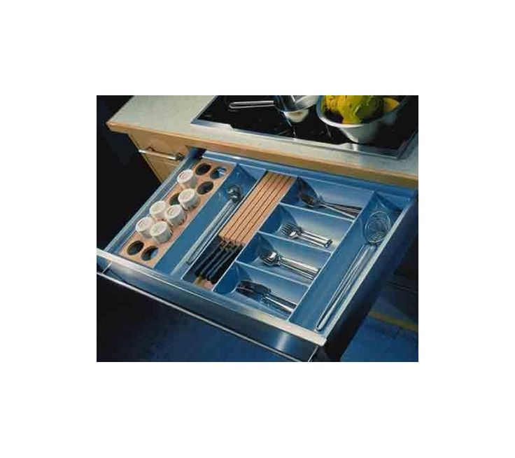 Cutlery Tray Insert Gloss Grey 300-1000mm Drawers - East Coast Kitchens