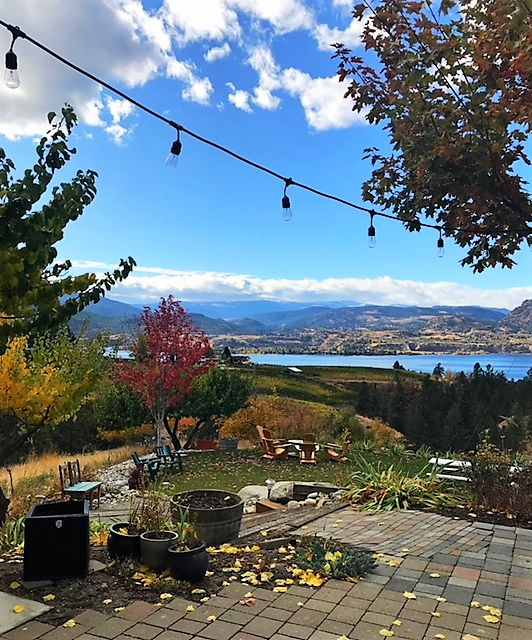 SPIRITS ON THE BENCH - check out the view and cocktails from the always memorable Legend Distillery on Naramata Bench BC.
