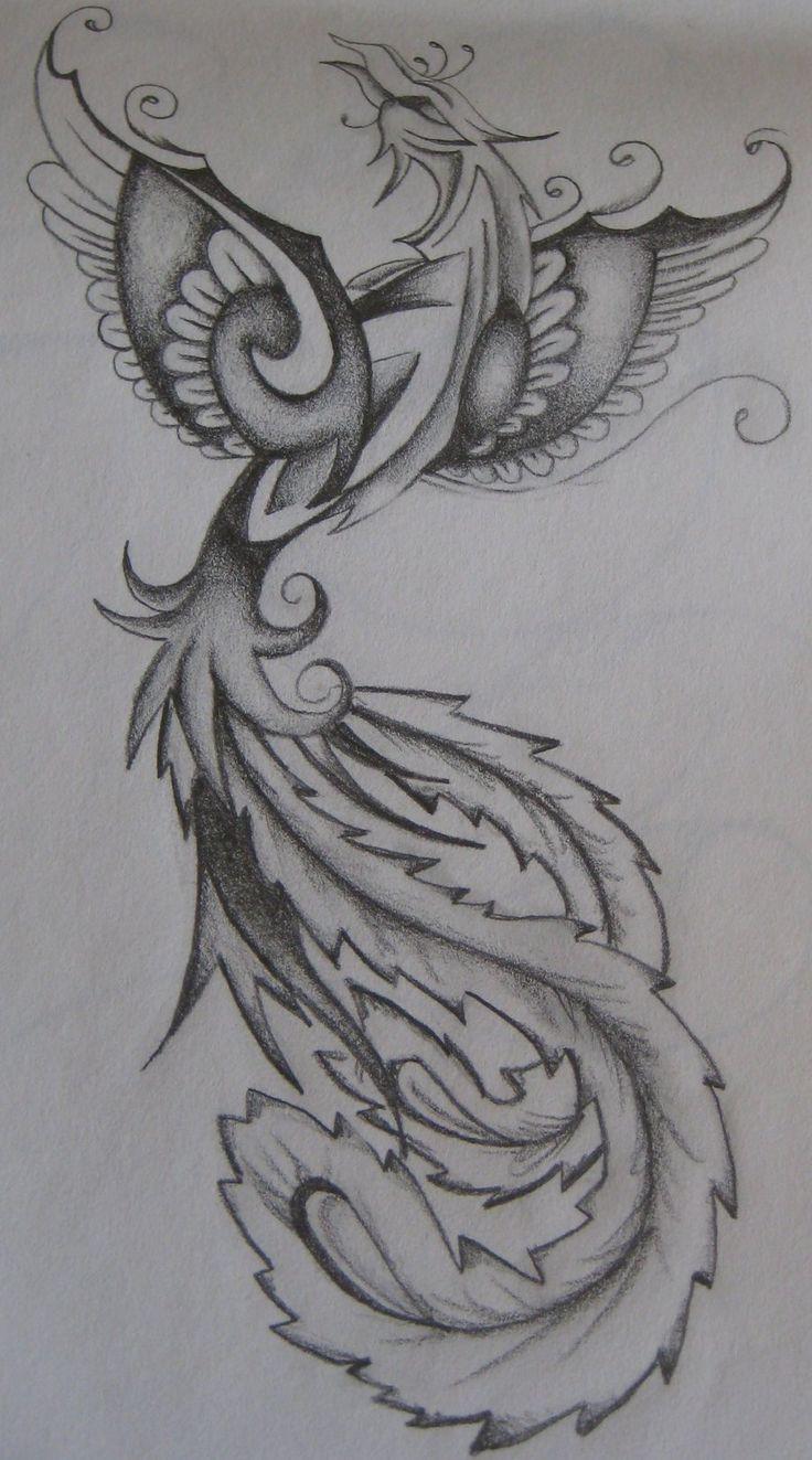 Phoenix female tattoo design by ~EmmaJaneOGrady on deviantART