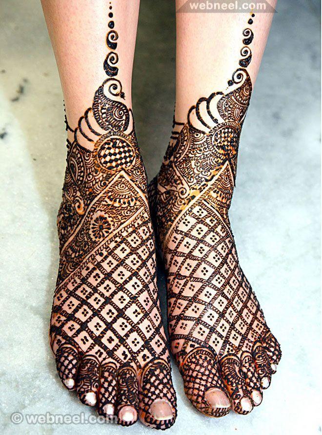 mehndi designs leg