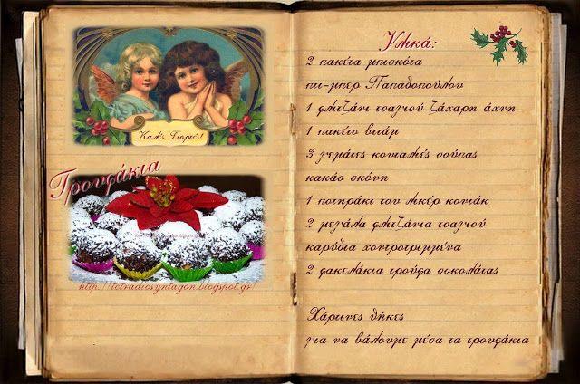 Συνταγές, αναμνήσεις, στιγμές... από το παλιό τετράδιο...: Τρουφάκια με μπισκότο και καρύδι!