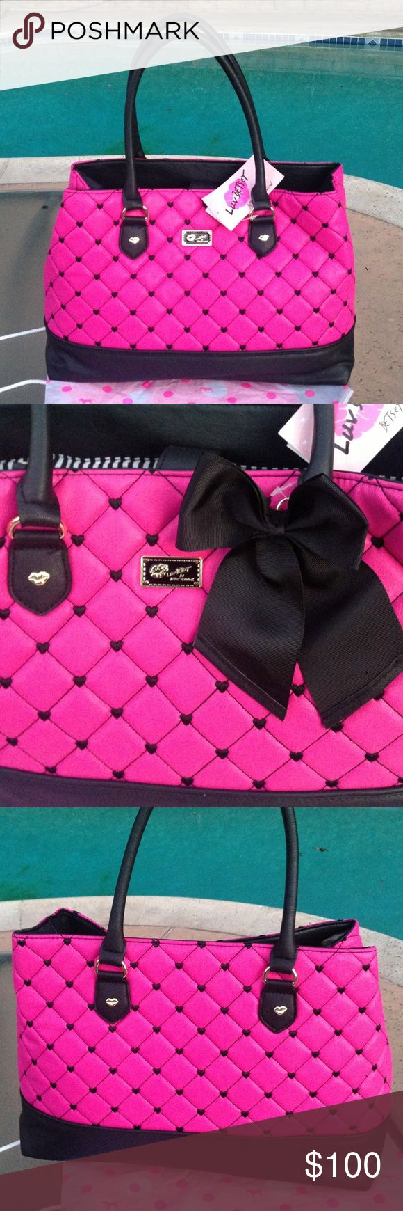 Large Betsey Johnson Purse Brand new! Large bag can be used as a diaper bag as well! Betsey Johnson Bags
