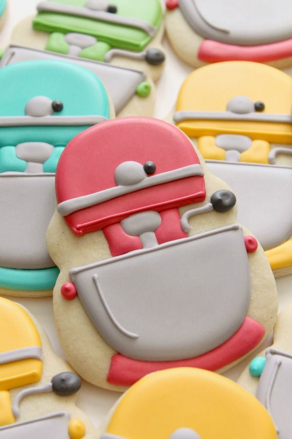 Adorable Mixer Cookies, with printable template to make your own!  - from Sweet Sugar Belle
