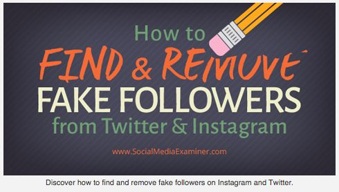 How to Find and Remove Fake Followers from Twitter and Instagram  Are fake followers clogging your social media accounts?  Would you like to get rid of them?  Chances are you have some fake followers on Instagram and Twitter. You might even be following some fake accounts, yourself.  In this article you'll discover four tools to help you find and remove fake followers from Twitter and Instagram.