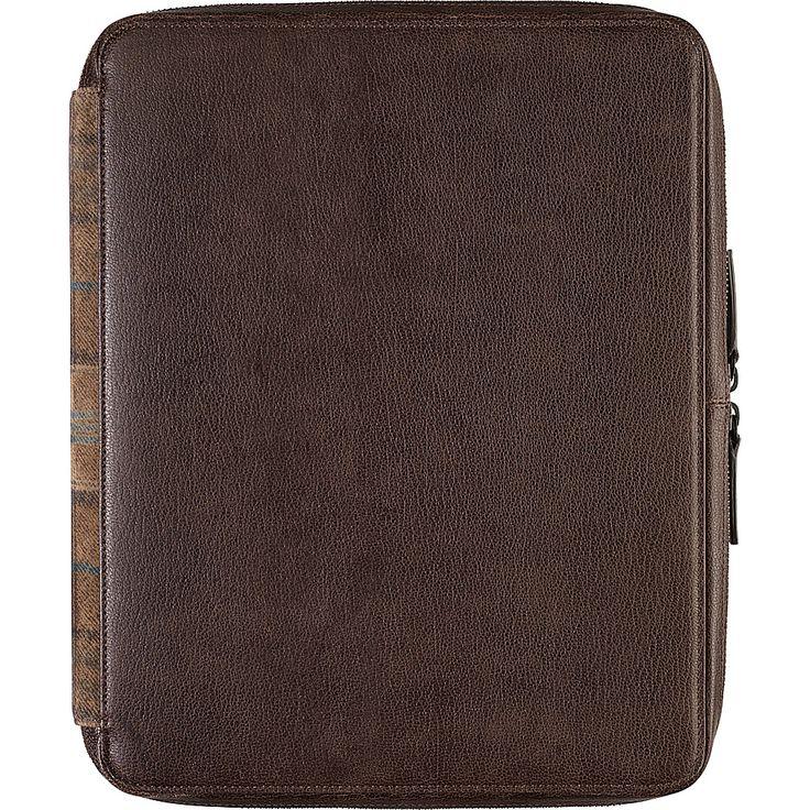 Image of Johnston & Murphy Zip Folio With iPad Sleeve Brown - Johnston & Murphy Personal Electronic Cases