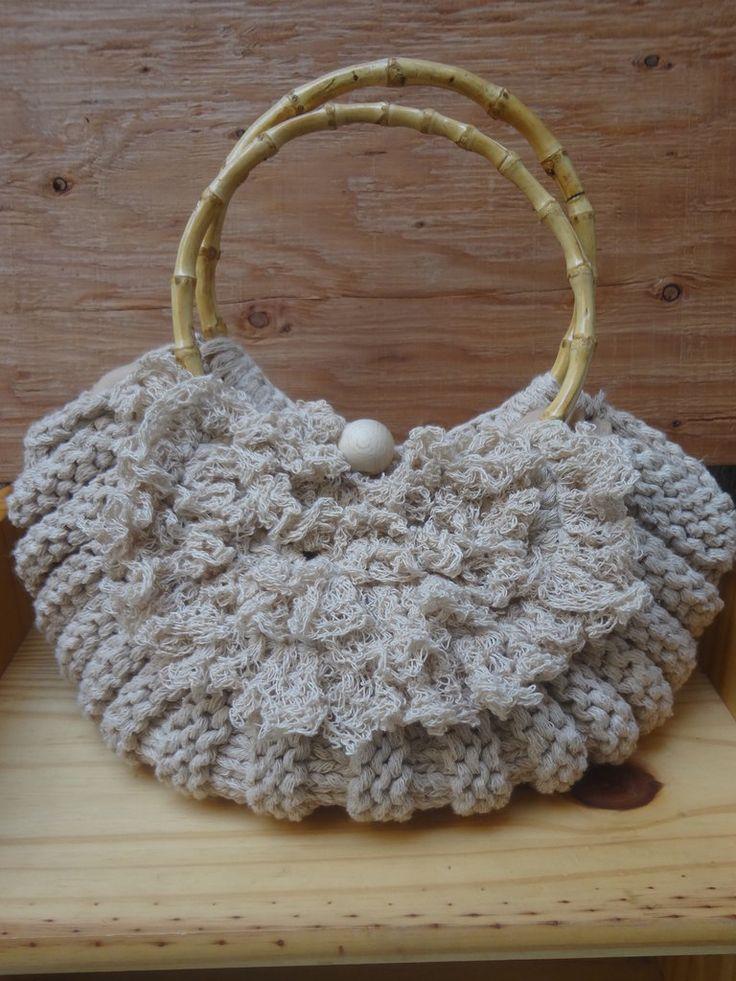 borsa fatta a maglia