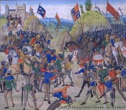 Bataille de Crécy (Bibliothèque Nationale de France)