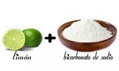 Beneficios del bicarbonato y limón