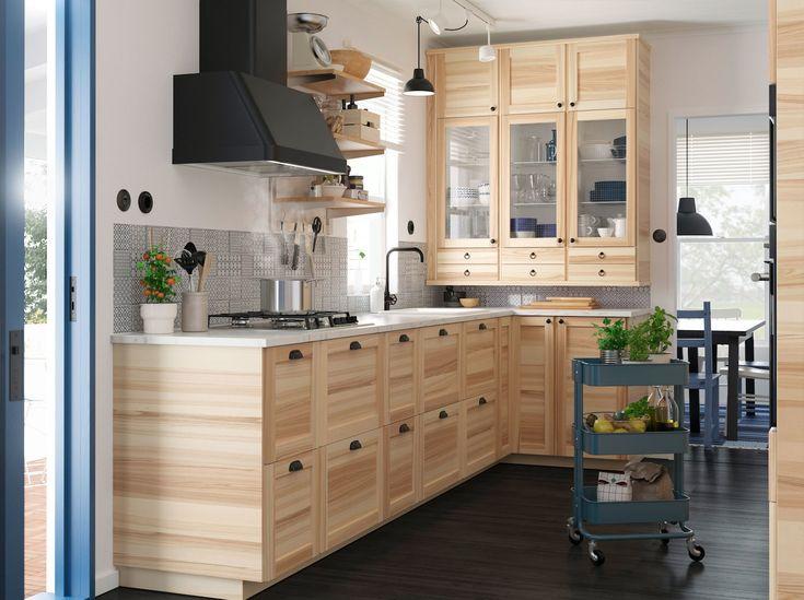 AFFILIATELINK | Inspiration: Deine Küche in Holzoptik skandinavisch, Design, Minimalistisch, Einrichtung, Deko, schlichte, Wanddeko, Schlafzimmerdeko…