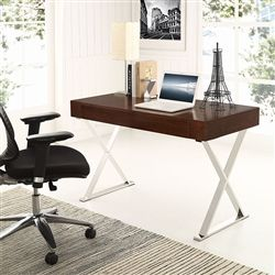 Cool Home Writing Desks Metal X Shaped Bases And Organizing Drawers. This  Modway Home Office