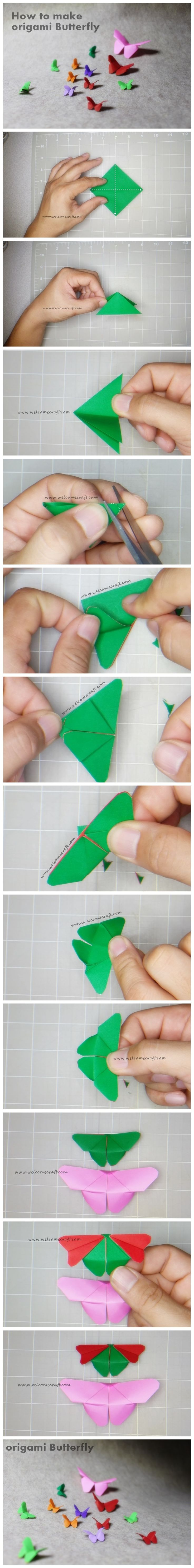 How to make origami butterfly DIY step by step tutorial instruction. ... Isn't this lovely? See more awesome stuff at http://craftorganizer.org