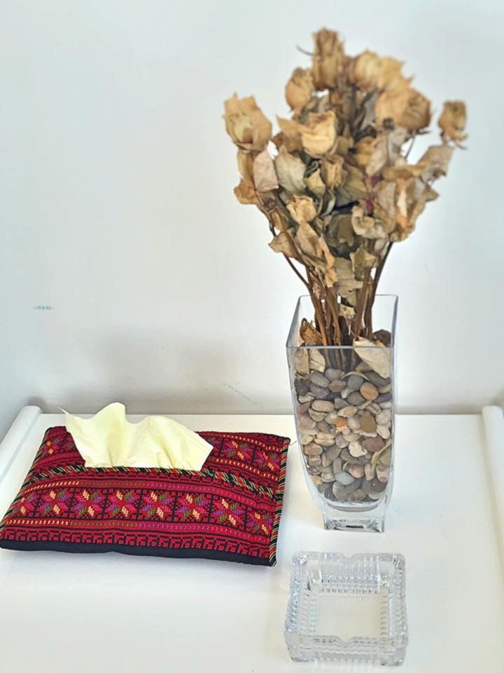 Palestinian Embroidered Tissue Holder - by Shaymas on Etsy