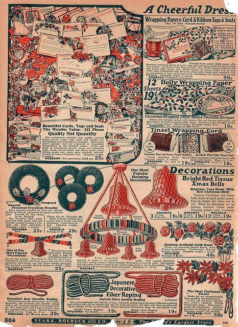 Vintage Sears Catalog Christmas Decorations Page