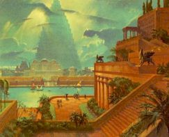 Les jardins suspendus de babylone (représentation fantaisiste)