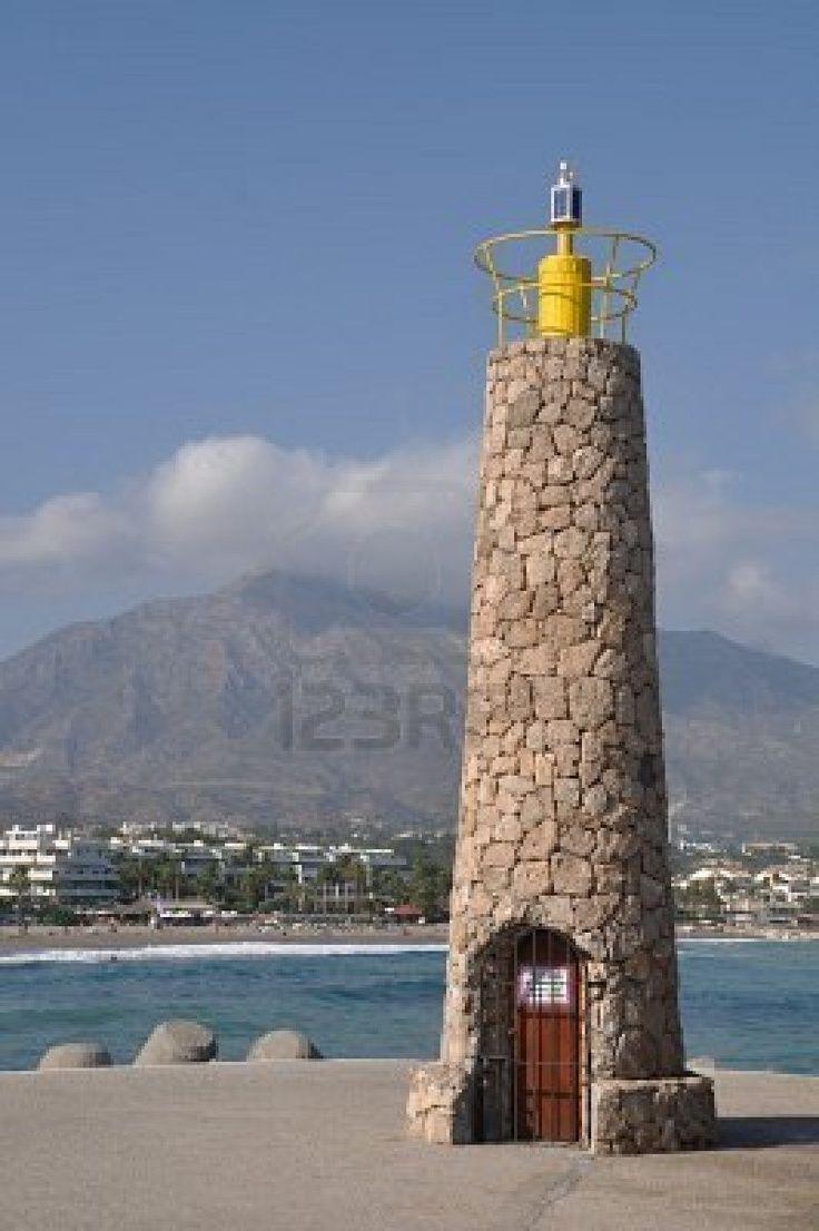 Famous Lighthouses | famous lighthouse in Puerto Banus (Marbella), Spain | Light Houses