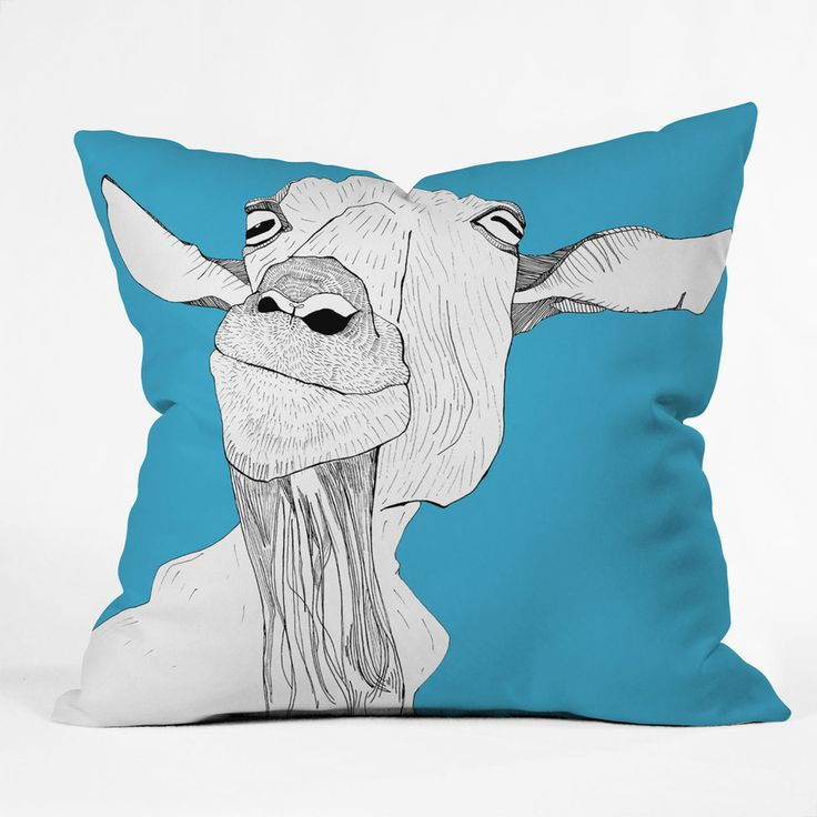 Farm Animal Pillow Pets : Get this colorful Goat cartoon image pillow throw. Great holiday present for any dancing goat ...