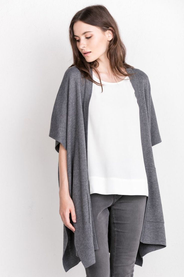 Grey total look with white t-shirt