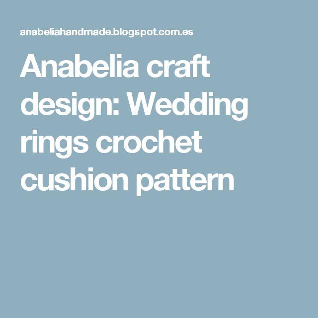 Anabelia craft design: Wedding rings crochet cushion pattern
