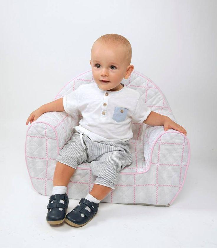 Rosette - pohodlné prošívané sedačka pro dítě www.muzpony.cz