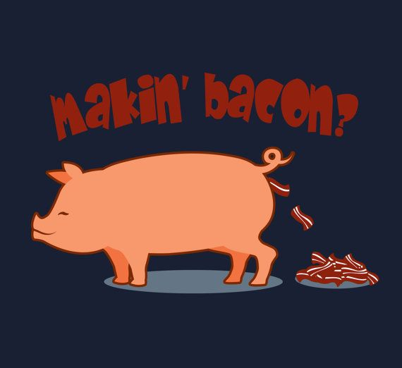 Bacon Shirt Funny Meat Eater Tee Pig Tshirt by FunhouseTshirts, $16.50
