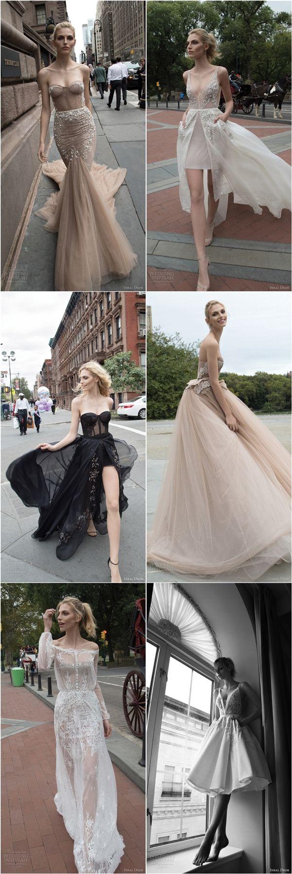 Inbal Dror 2016 wedding dresses / http://www.deerpearlflowers.com/inbal-dror-fall-wedding-dresses-2016-new-york-colletion/