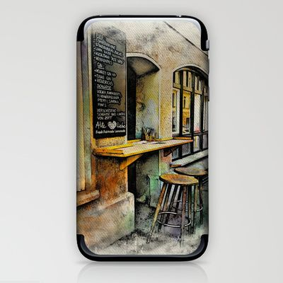 Cafe Stools iPhone & iPod Skin by AngelEowyn. $15.00