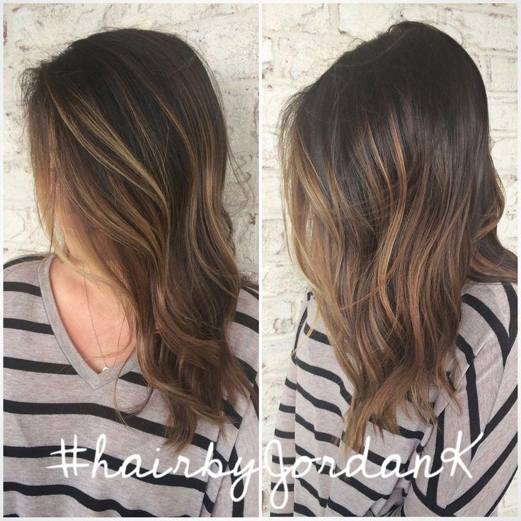 Brunette Balayage #enhanced #hairpainting #balayage #hairbyJordanK