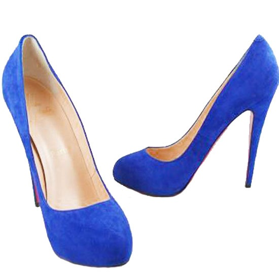 Christian Louboutin Pumps Blue Delic Suede $163.00 http://www ...