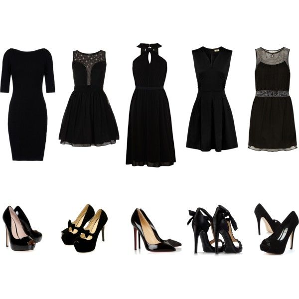 """Little black dresses and shoes"" by estupor on Polyvore"
