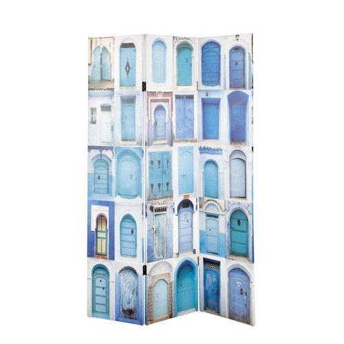 Kamerscherm met blauwe deuren Gabès