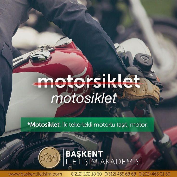 motosiklet *Motisiklet; İki tekerlekli motorlu taşıt, motor. (Kaynak: Instagram - baskentiletisim) #türkçe #türkçedili #bilgi #kelime #kelimeler #anlam #özet #kökeni #güzel #güzelkelimeler #bazıkelimelerçokgüzel #lügat #doğrutürkçe
