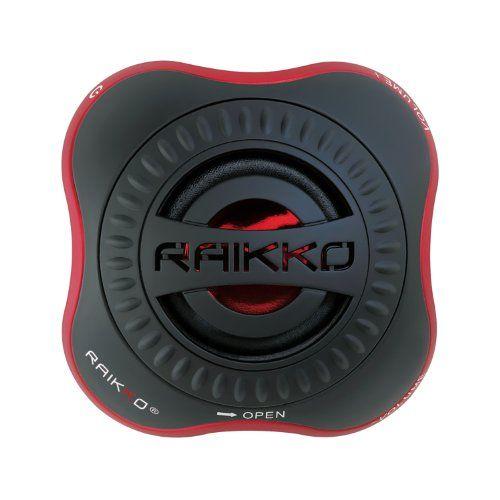 Raikko Nano Vacuum Speaker Mini Aktiv Lautsprecher (3,5 mm Klinkenstecker, 2,5 Watt, USB, Akku), schwarz | SpezialTrade beim Einkaufen sparen
