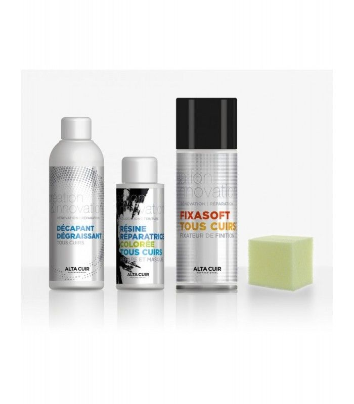 Kit Petite Decoloration Alta Cuir Vernis En Spray Cuir Decapant