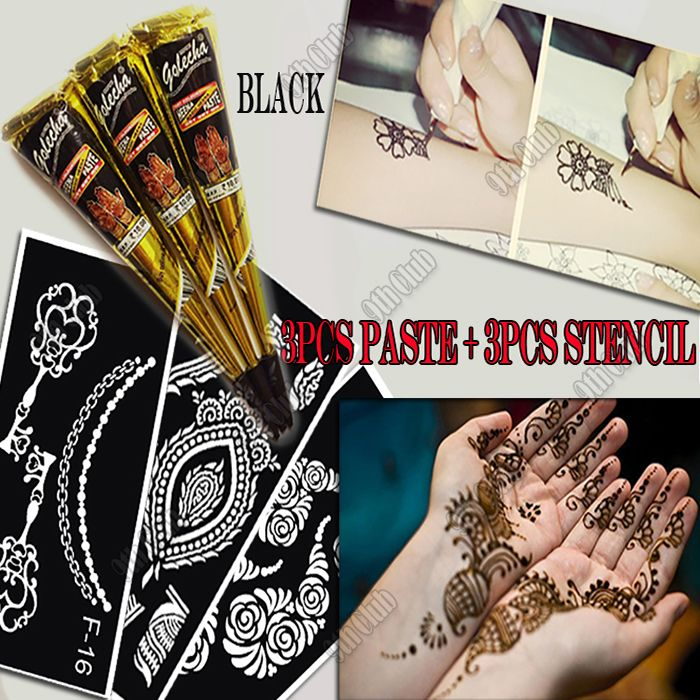henna henna tattoo tattoo stencils henna tattoo kit tijdelijke tattoo ...