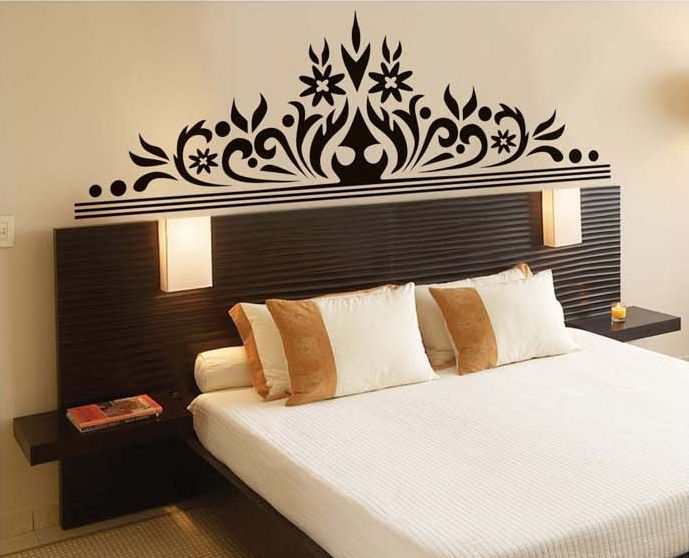 Bed Room decoration ideas...Lovely ethnic bed back designs by SYGA wall stickers