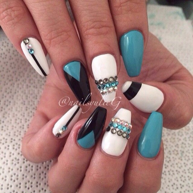 Aqua Nail Art: 17 Best Images About Danishaz Hair & Make Up Inspirations