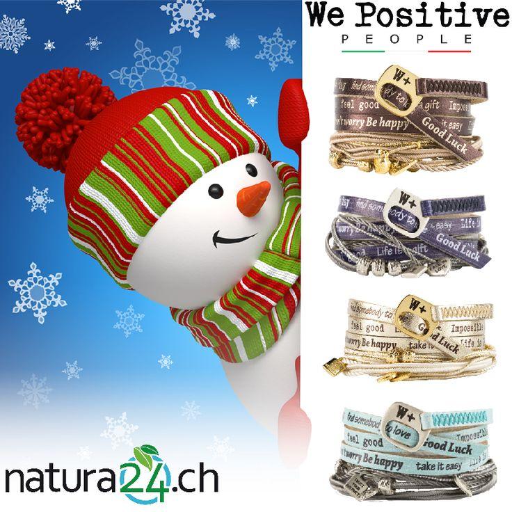 We Positive - gehe #positiv in den Tag! - Infiziere Deine Freunde mit Optimismus und schenke den trendigen Begleiter fürs Handgelenk zu Weihnachten. Es ist ein toller Glücksbringer - auf dem weichen Lederband sind lauter wunderschöne Botschaften aufgedruckt. #wepositive #wickelarmband #lederarmband #wrapbracelet #echtleder #armband #freundschaftsarmband #bracelets #fashionaccessory #musthave #mussichhaben #Lifestyle #happy #trend #present #like #positive #creativa #natura24ch #creativa1001